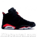 Air Jordan 6 (VI) Retro-Black / Deep Infrared