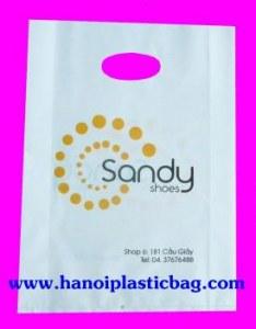 Die cut handle bag print many colors