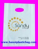 Die cut handle bag print many colors