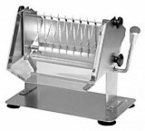 Hand-operated sausage slicer