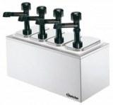 Pump sauce dispenser, 4 dispensers/pumps