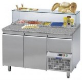 REFRIGERATED TABLE FOR PIZZA PREPARATION 2 DOORS