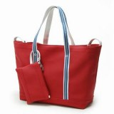 Simple Levity Shoulder Bag Zipper Closure Red