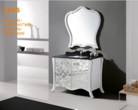 Classic solid wood White Contemporary Makeup bathroom cabinet, bathroom vanity, bathroo...