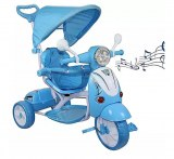 Scooter Vespa tricycle stroller with pedals