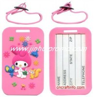 Hot selling fashion silicone luggage tag on sale