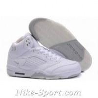 New Air Jordan 5 (V) Retro Embroidery White/Grey