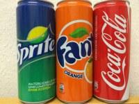Fant, Coca-cola,pepsi, 7up, miranda. orange