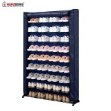 Herzberg HG-8077: 9-Tier Shoe Rack Organizer Blue