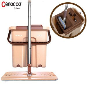 Cenocco CC-9070: Flat Mop with Bucket Brown