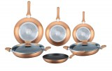 Herzberg HG-6010; Cookware set in marble coating 8 pcs Copper