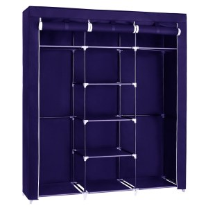 Herzberg HG-8011: Storage Wardrobe - Medium Blue