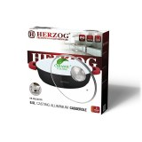 Herzog HR-CALC281CR; Aluminum Ceramic casserole 28 cm 3.8L Red
