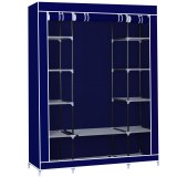 Herzberg HG-8009: Storage Wardrobe - Large Blue