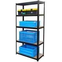 Herzberg HG-8027BLK: Black Coated Storage Shelf