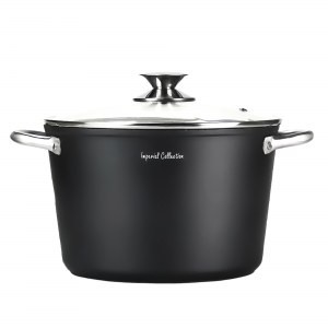 Imperial Collection IM-DP24-FSS: 24cm Deep Pot with Lid