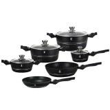 Imperial Collection IM-ST10-DFM: 10 Pieces Cookware Set with Detachable Handle