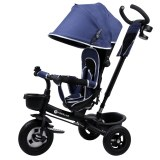 Kinderline TRC-711.1BLUE: 4 in 1 Baby & Toddler Tricycle Stroller - Blue