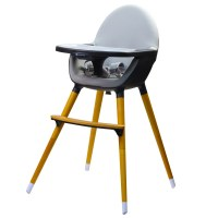 Kinderline WHC-701.1 DARKGREY: Pod TimberHighchair - Dark Gray