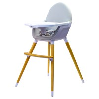 Kinderline WHC-701.1GREY: Pod Timber Highchair - Light Gray