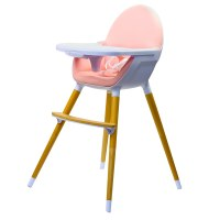 Kinderline WHC-701.1PINK: Pod Timber Highchair - Pink