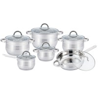 Kitchen Pro Plus KP-1251: 12 Pieces Stainless Steel Cookware Set