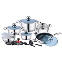 Mayerhoff CS-16-WR:16 pcs Stainless Steel Cookware Set with Thermometer Knob