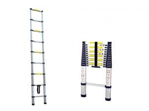 Herzberg HG-5260; 2m60 Aluminum Telescopic Ladder with Anti Slip Footing