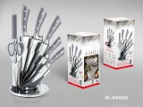 Royalty Line RL-KSS820; Stainless steel knife set 8 pieces Gray