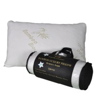 Royalty Comfort HG-5076BM: Bamboo Luxury Pillow with Ergonomic Memory Foam - Queen