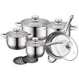 Royalty Line RL-1232: 12 Pieces Stainless Cookware Set