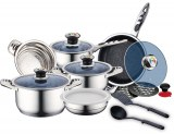 Royalty Line RL-16RGNM; Stainless Steel Cookware Set 16 pcs