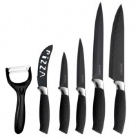 Royalty Line RL-BLK5-W; Set of knives 5 pieces and peeler