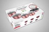 Royalty Line RL-FM10C; Non-stick marble coated kitchen pots 10pcs Burgundy