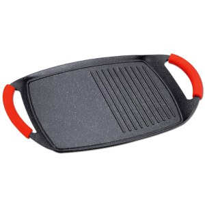 Royalty line RL-BTG47M: Die Cast Aluminium Marble Coated Two Handle Grill Pan