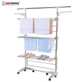 Herzberg HG-5015; Moving Clothes Rack White