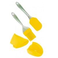 Euro Lady EL-4KHS: 4 Pieces Baking Tools Yellow