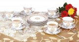 Zillinger ZL 742; Tea service for 6 people Gold