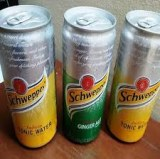 Schweppes Tonic Water 330ml Sleek Can/ Soft Drinks/ Cabonated Drinks/ Canned Drinks/Bev...