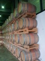 Used wine's oak barrels