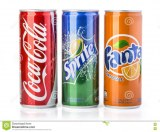 Coca-Cola, Fanta, Sprite cannete 0,33L .Assortiment de boissons dans notre entrepôt à...