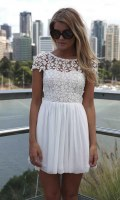 lot for sale Chiffon Floral Crochet Lace dress