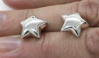Star earring silver 925