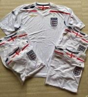 Rare Umbro England Football shirts from season 2007-2009