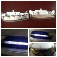 LED daytime running driving light for W204