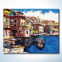 Home decoraton craft gift acrylic oil painting by number