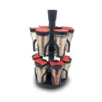 Herzberg HG-6004; Spice rack with 12 glass jars