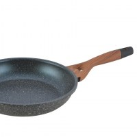 Herzberg HG-6024FP; Marble coating fry pan with soft touch handle 24cm