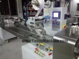 Horizontal Flow Bagel Wrap Equipment Pillow Cake Chip Pack Wrapper Arabic Pita Bread Wr...