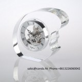 Clock factory crystal desktop clock for business gift